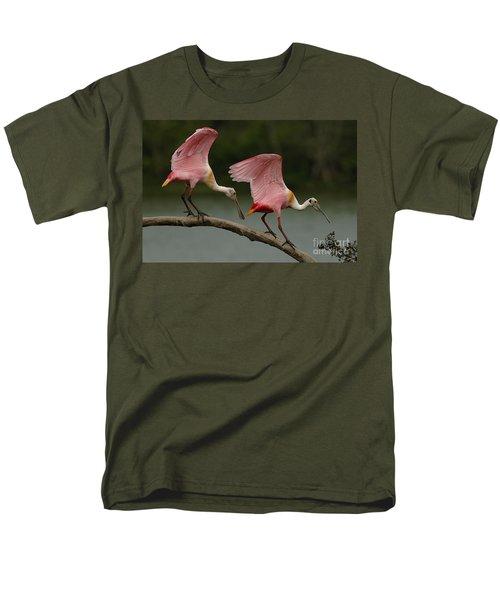 Rosiette Spoonbills Men's T-Shirt  (Regular Fit) by Bob Christopher