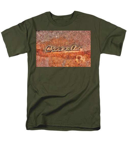 Rusted Antique Chevrolet Logo Men's T-Shirt  (Regular Fit) by Dan Stone