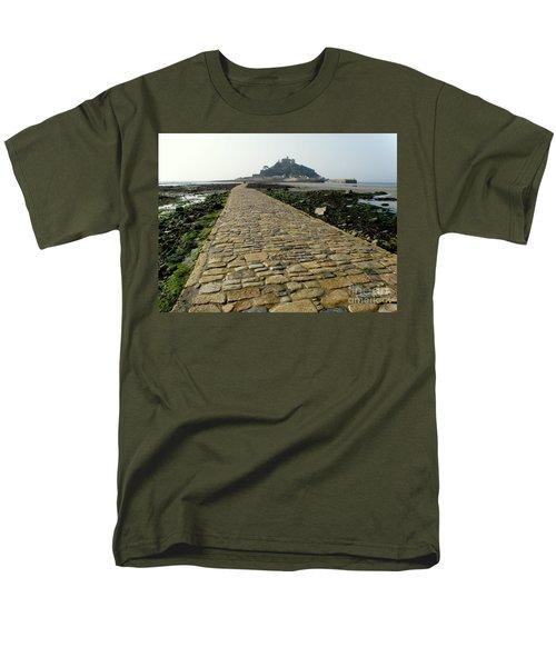 Saint Michael's Mount Men's T-Shirt  (Regular Fit) by Lainie Wrightson