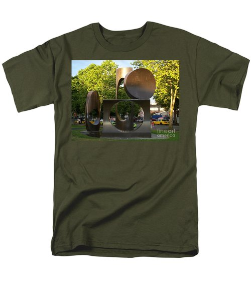 Men's T-Shirt  (Regular Fit) featuring the photograph Seattle Sculpture by Chalet Roome-Rigdon