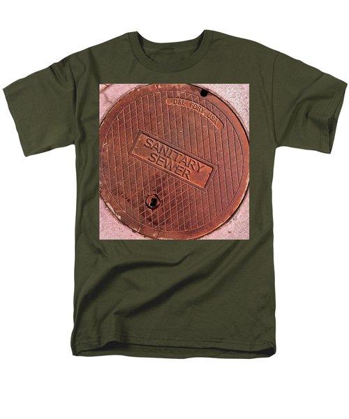 Men's T-Shirt  (Regular Fit) featuring the photograph Sewer Cover by Bill Owen