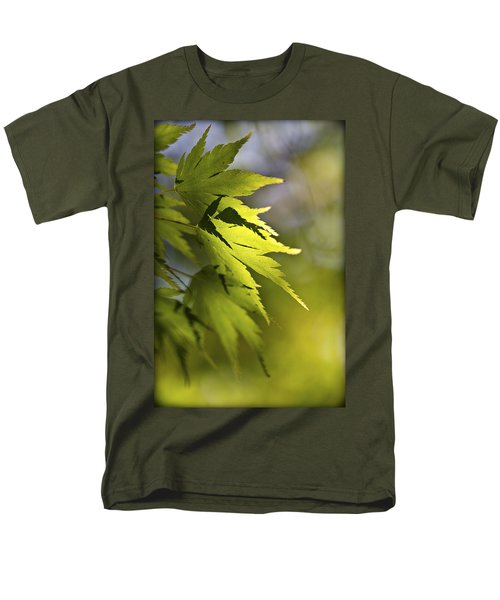 Men's T-Shirt  (Regular Fit) featuring the photograph Shades Of Green And Gold. by Clare Bambers