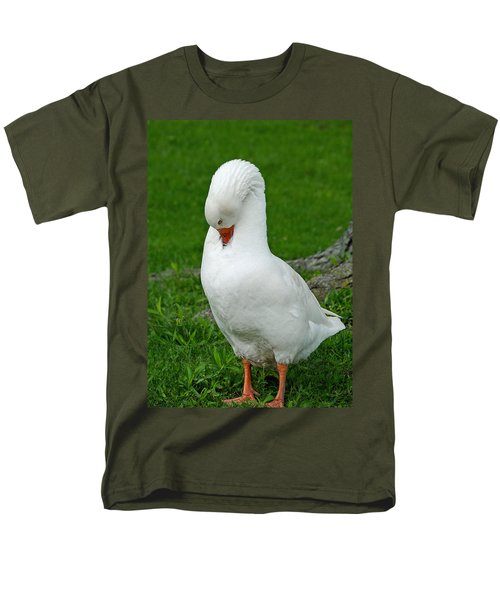 Men's T-Shirt  (Regular Fit) featuring the photograph Shy Goose by Lisa Phillips