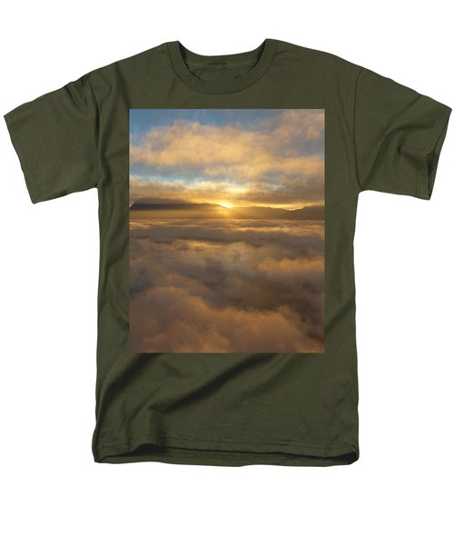 Silver Lake Sunrise Men's T-Shirt  (Regular Fit) by Mark Greenberg