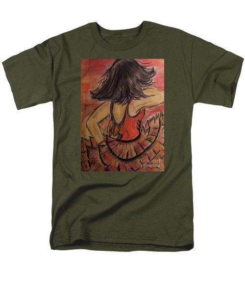 Men's T-Shirt  (Regular Fit) featuring the painting Spanish Dancer by Lori  Lovetere