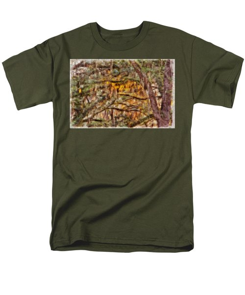 Spanish Moss And Sunset Men's T-Shirt  (Regular Fit) by Tom Culver