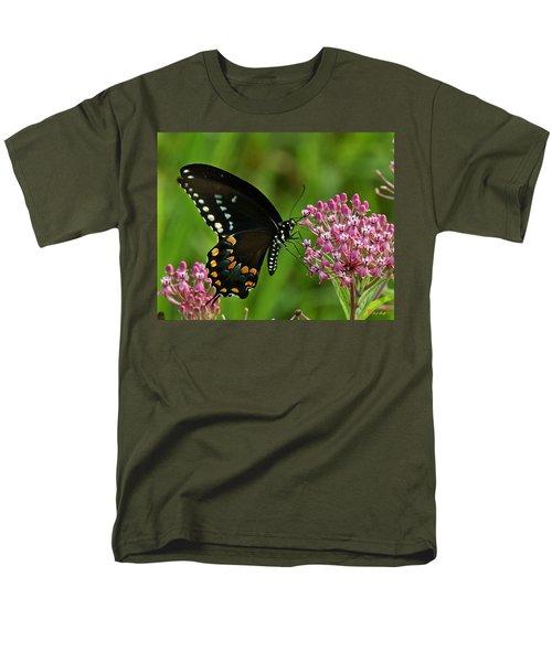 Spicebush Swallowtail Din039 Men's T-Shirt  (Regular Fit) by Gerry Gantt