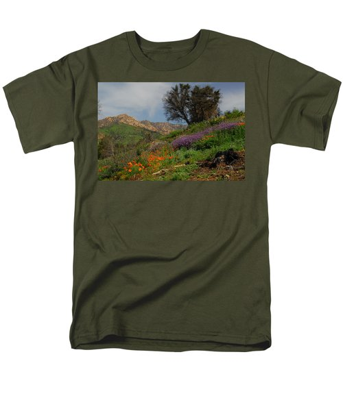 Men's T-Shirt  (Regular Fit) featuring the photograph Spring In Santa Barbara by Lynn Bauer