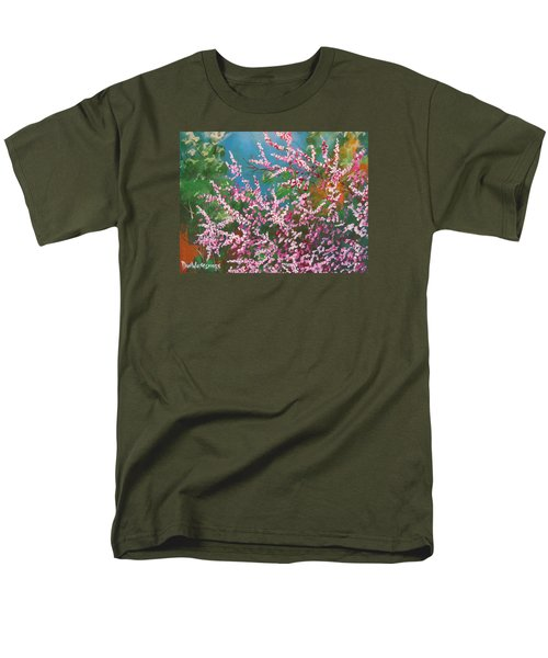 Men's T-Shirt  (Regular Fit) featuring the painting Springs Blossoms  by Dan Whittemore