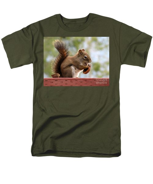 Squirrel And His Walnut Men's T-Shirt  (Regular Fit) by Leone Lund