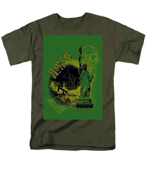 Statue Of Brutality  Men's T-Shirt  (Regular Fit) by Tony Koehl