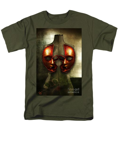 Men's T-Shirt  (Regular Fit) featuring the photograph Suckling The Silence  Viriditas by Rosa Cobos