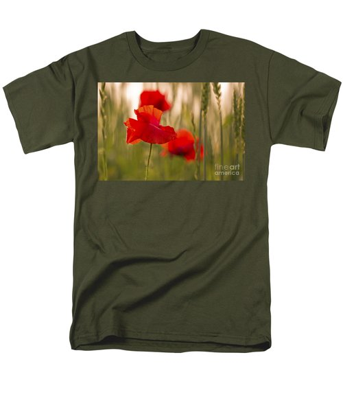 Men's T-Shirt  (Regular Fit) featuring the photograph Sunset Poppies. by Clare Bambers