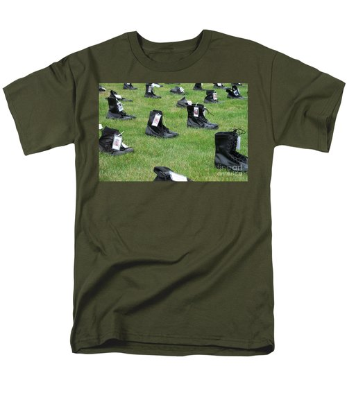 Men's T-Shirt  (Regular Fit) featuring the photograph The Cost Of War by Chalet Roome-Rigdon