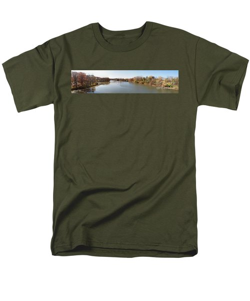 Men's T-Shirt  (Regular Fit) featuring the photograph The Erie Canal Crossing The Genesee River by William Norton