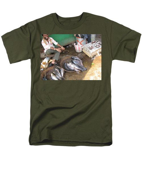 Men's T-Shirt  (Regular Fit) featuring the photograph The Fish Seller by David Pantuso