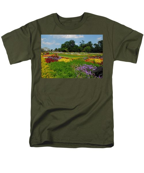Men's T-Shirt  (Regular Fit) featuring the photograph The Gardens Of The Conservatory by Lynn Bauer