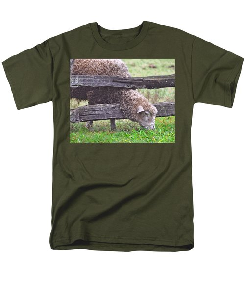 Men's T-Shirt  (Regular Fit) featuring the photograph The Grass...on The Other Side by Lydia Holly
