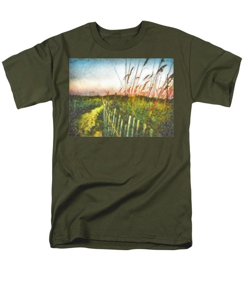 Men's T-Shirt  (Regular Fit) featuring the painting To The Sea by Lynne Jenkins