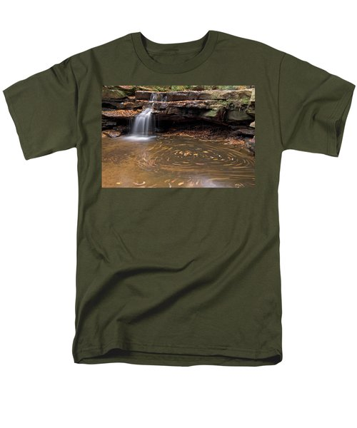 Men's T-Shirt  (Regular Fit) featuring the photograph Tolliver Falls by Jeannette Hunt