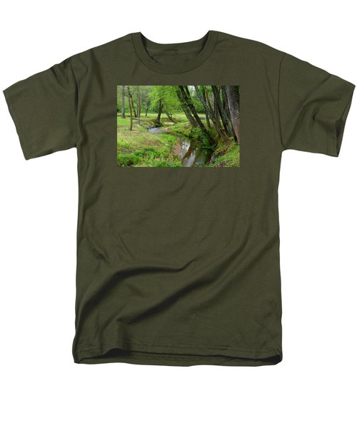 Men's T-Shirt  (Regular Fit) featuring the photograph Toms Creek In Early Spring by Kathryn Meyer