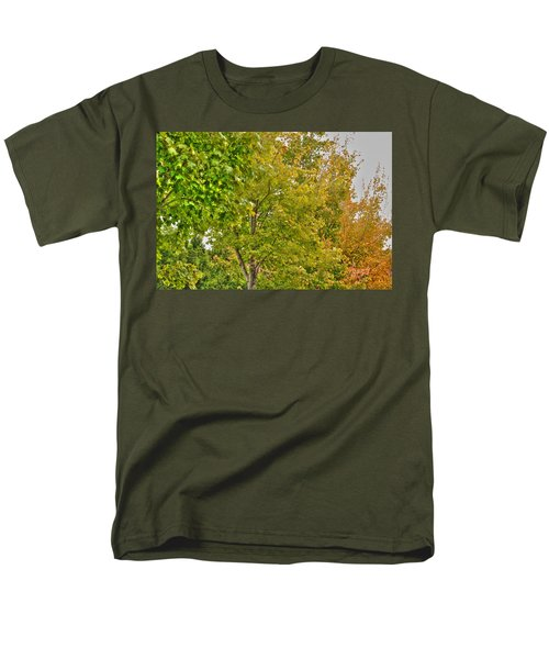 Men's T-Shirt  (Regular Fit) featuring the photograph Transition Of Autumn Color by Michael Frank Jr