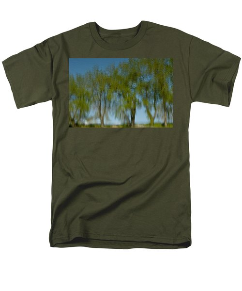 Tree Line Reflections Men's T-Shirt  (Regular Fit) by Colleen Coccia