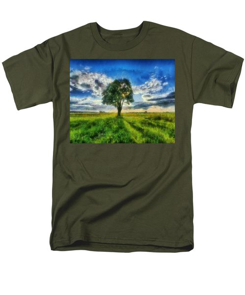 Men's T-Shirt  (Regular Fit) featuring the painting Tree Of Life by Joe Misrasi