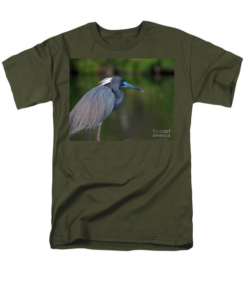 Men's T-Shirt  (Regular Fit) featuring the photograph Tricolored Heron by Art Whitton