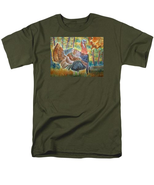 Men's T-Shirt  (Regular Fit) featuring the painting Turkey In Fall by Belinda Lawson