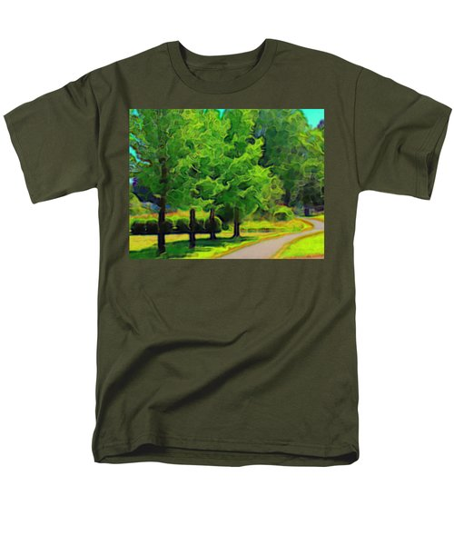 Men's T-Shirt  (Regular Fit) featuring the mixed media Van Gogh Trees by Terence Morrissey