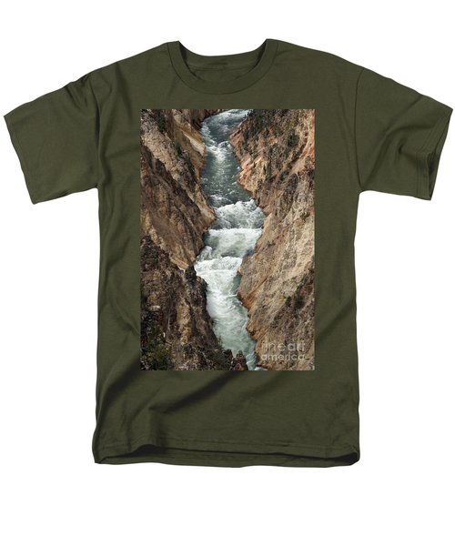 Men's T-Shirt  (Regular Fit) featuring the photograph Water And Rock by Living Color Photography Lorraine Lynch
