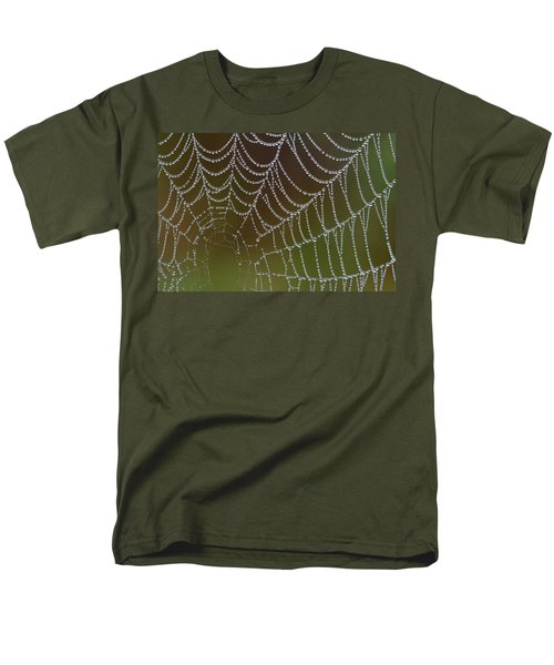 Men's T-Shirt  (Regular Fit) featuring the photograph Web With Dew by Daniel Reed