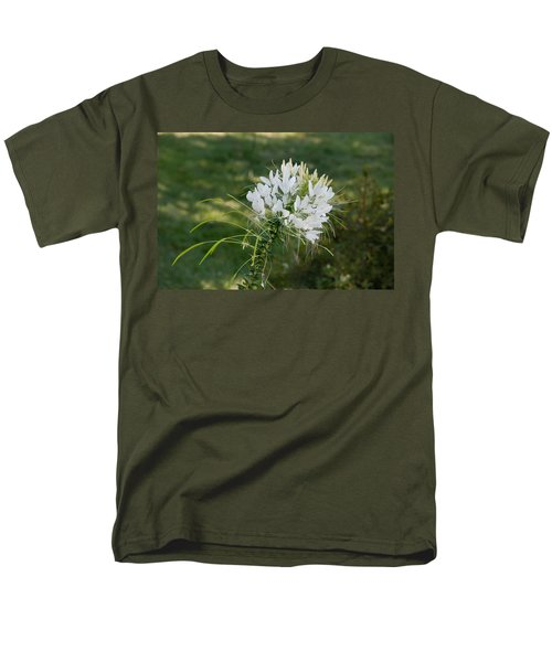 White Cleome Men's T-Shirt  (Regular Fit) by Michael Bessler