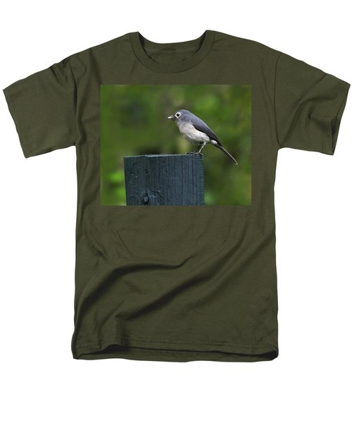 White-eyed Slaty Flycatcher Men's T-Shirt  (Regular Fit) by Tony Beck