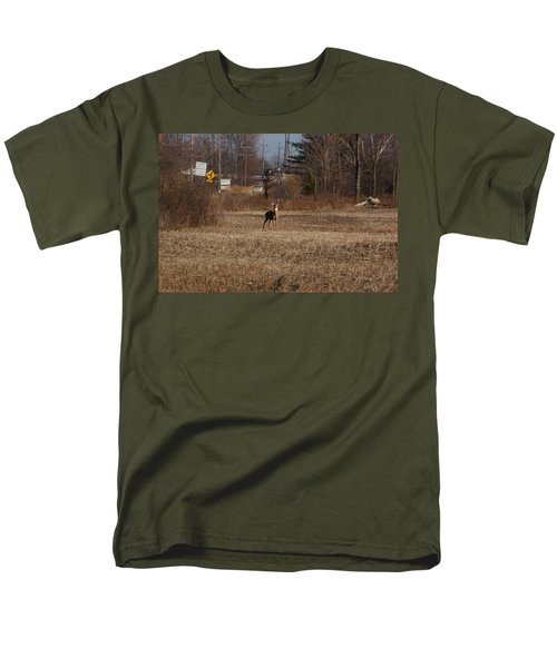 Whitetail Deer Men's T-Shirt  (Regular Fit) by Randy J Heath