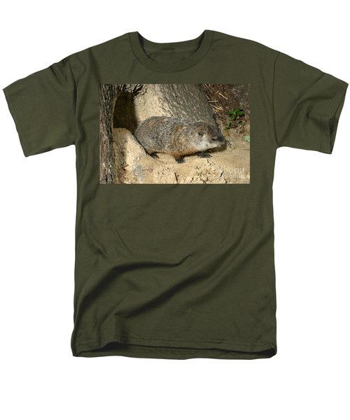 Woodchuck Men's T-Shirt  (Regular Fit) by Ted Kinsman
