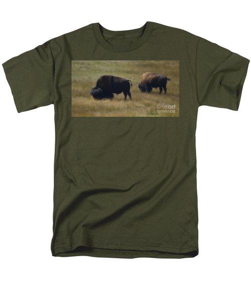 Wyoming Buffalo Men's T-Shirt  (Regular Fit) by Donna Greene