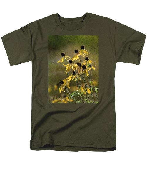 Yellow Coneflowers Men's T-Shirt  (Regular Fit) by Bruce Morrison