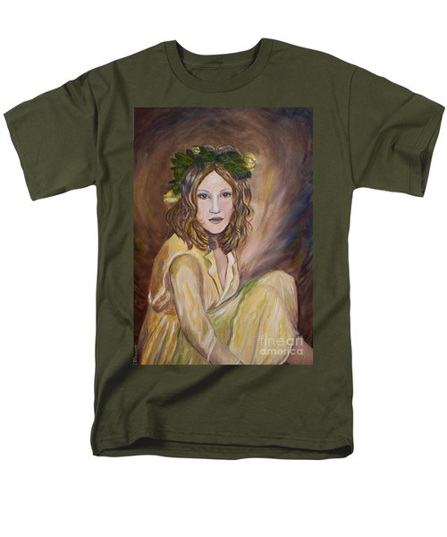 Men's T-Shirt  (Regular Fit) featuring the painting Yellow Rose by Julie Brugh Riffey