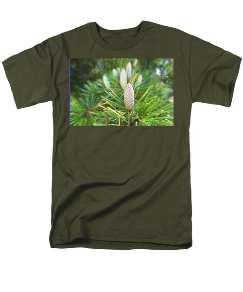 Young Pine Cones Men's T-Shirt  (Regular Fit) by Anne Mott