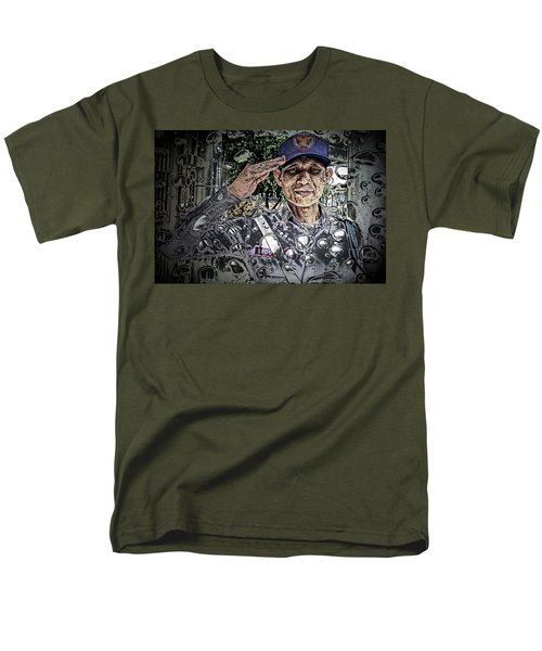 Bank Security Officer - On A Rainy Day Men's T-Shirt  (Regular Fit) by Ian Gledhill