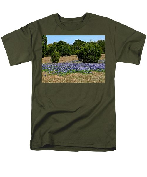 Men's T-Shirt  (Regular Fit) featuring the photograph  Bluebonnet Trail - No.2016 by Joe Finney