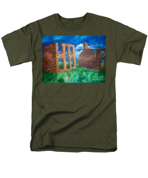 Men's T-Shirt  (Regular Fit) featuring the painting  Ghost Town  by Eric  Schiabor