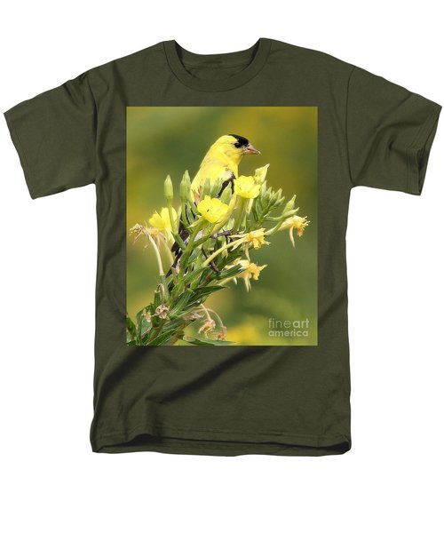 Goldfinch Men's T-Shirt  (Regular Fit) by Debbie Stahre