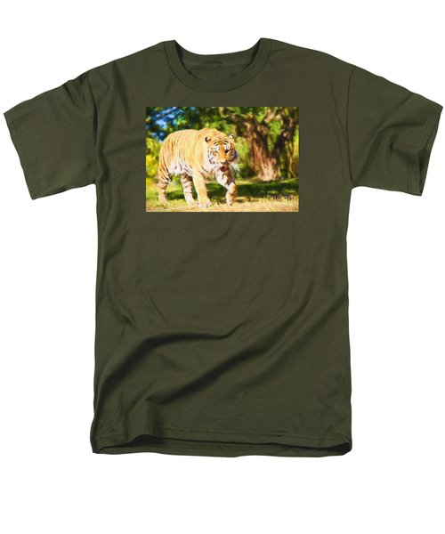 Men's T-Shirt  (Regular Fit) featuring the painting  On The Prowl by Judy Kay