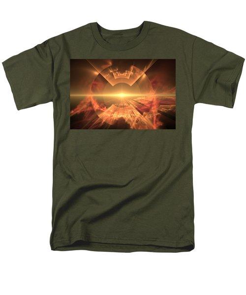 Men's T-Shirt  (Regular Fit) featuring the digital art  Supernova  by Svetlana Nikolova