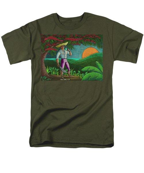 Amanecer En Borinquen Men's T-Shirt  (Regular Fit) by Oscar Ortiz