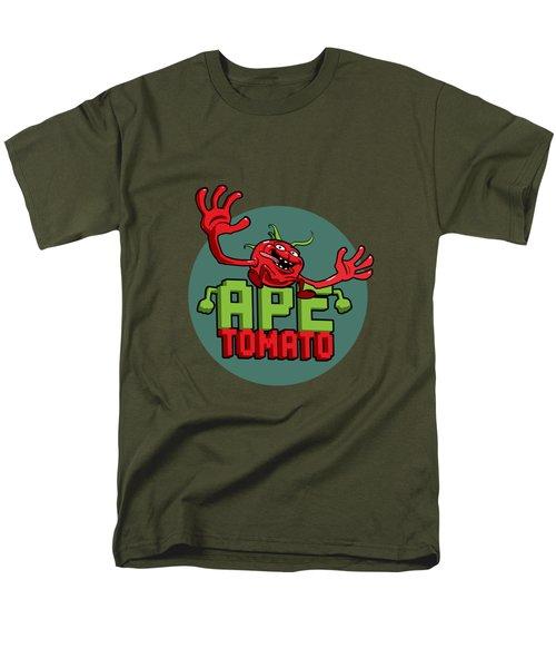 Ape Tomato Grey Green Men's T-Shirt  (Regular Fit)