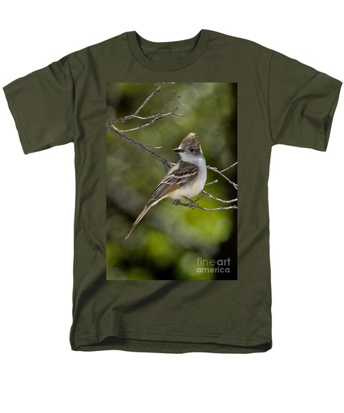 Ash-throated Flycatcher Men's T-Shirt  (Regular Fit) by Anthony Mercieca